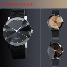 Fashion Stainless Steel Quartz Military Sport Leather Band Dial Wrist Watch Men