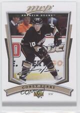 2007-08 Upper Deck MVP #108 Corey Perry Anaheim Ducks (Mighty of Anaheim) Card