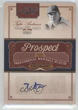 2011 Playoff Prime Cuts Prospect Signatures TA Tyler Anderson Auto Baseball Card