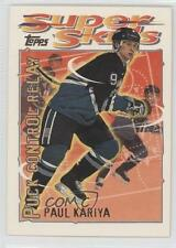 1995-96 Topps Super Skills 16 Paul Kariya Anaheim Ducks (Mighty of Anaheim) Card