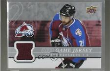 2008 Upper Deck UD Game Series 1 Jersey #GJ-PF Peter Forsberg Colorado Avalanche
