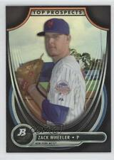 2013 Bowman Platinum Top Prospects #TP-ZW Zack Wheeler New York Mets Rookie Card
