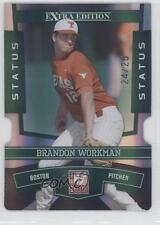 2010 Donruss Elite Extra Edition Status Emerald Die-Cut #14 Brandon Workman Card