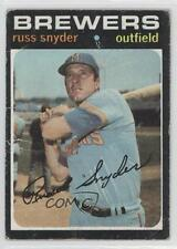 1971 Topps #653 Russ Snyder Milwaukee Brewers Baseball Card