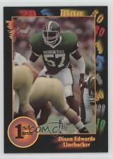 1991 Wild Card Draft #100 Dixon Edwards Michigan State Spartans Rookie Football