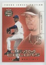 2003 Fleer Focus Jersey Edition Team Colors #11TC Pedro Martinez Boston Red Sox