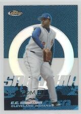 2005 Topps Finest Blue Refractor #24 CC Sabathia Cleveland Indians Baseball Card