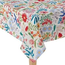 BRAND NEW FOOD NETWORK STAIN-RESISTANT TABLECLOTH MULTI-COLOR ROUND/OBLONG