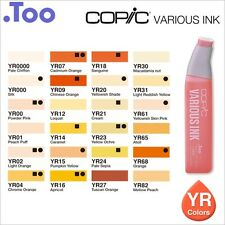 "Copic Various Ink ""YR Color Series""Refill for Too Copic Sketch and Ciao on sale"