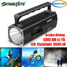 8000LM CREE XM-L T6 LED Waterproof Scuba Diving Underwater 100M Flashlight Torch