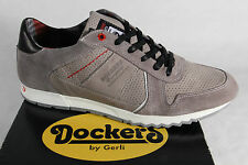 Dockers Men's Lace-up Shoes Low shoes Sneakers trainers Grey Leather NEW