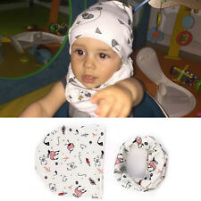 Soft Hat Cap+Bib Towel Head Scarf New Fashion Infant Kids Baby Boys Girls 1 Set