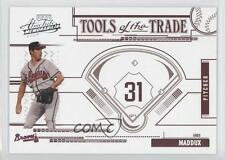2005 Playoff Absolute Memorabilia Tools of the Trade Red #TT-63 Greg Maddux Card