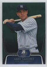 2012 Bowman Platinum Prospects Green Refractor #BPP38 Gary Sanchez Baseball Card