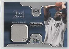 2002-03 Upper Deck Ovation Authentics Shooting Shirt #KG-S Kevin Garnett Card
