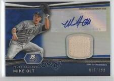 2012 Bowman Platinum Autographed Relic Blue Refractor #AR-MO Mike Olt Auto Card