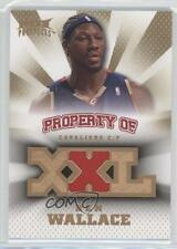 2008 Fleer Hot Prospects Property Of Materials PO-BW Ben Wallace Basketball Card