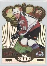 1998-99 Pacific Gold Crown Die-Cuts #10 Joe Sakic Colorado Avalanche Hockey Card