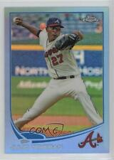 2013 Topps Chrome Blue Refractor #23 Julio Teheran Atlanta Braves Baseball Card
