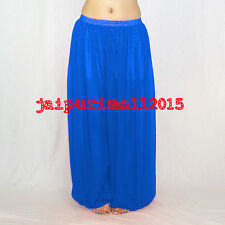 Blue Chiffon Harem Yoga Pants Genie Boho Aladdin Belly Dance Harem Trouser S~3XL