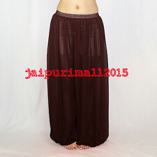 Coffee Chiffon Harem Yoga Pants Genie Boho Aladdin Belly Dance Harem S~3XL