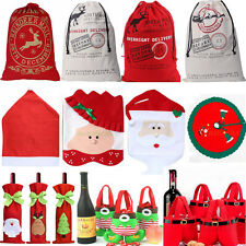 Santa Sacks Christmas Candy Gift Bags Wine Stocking Chair Cover Xmas Decoration