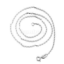 Women 925 Sterling Silver White Gold Plated Snake Chain Neckalce Fine Jewelry