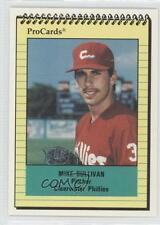 1991 ProCards Minor League 1620 Mike Sullivan Clearwater Threshers Phillies Card