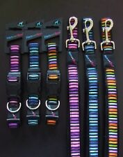 HEM AND BOO DOG & CO NYLON CLIP DOG COLLAR or PADDED HANDLE LEAD-Nuts Ab't Mutts
