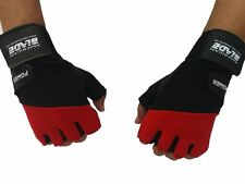 MAX Leather Weight Lifting Gloves Gym Fitness Bodybuilding Training Wrist Strap