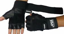 MAX Gym Gloves Leather Weight Lifting Body Building Training Fitness Strap S-XL