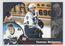 1998 Pacific Omega 8 Teemu Selanne Anaheim Ducks (Mighty of Anaheim) Hockey Card