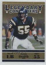 2011 Playoff Contenders Legendary Black #24 Junior Seau San Diego Chargers Card