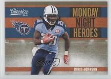 2010 Classics Monday Night Heroes Gold #15 Chris Johnson Tennessee Titans Card