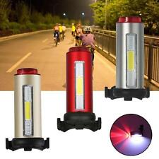 Cycling Bicycle Bright Red+White+Blue LED Rear Tail Light 7 Modes Bike Lamp LN