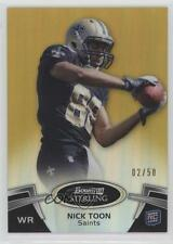 2012 Bowman Sterling Gold Refractor #35 Nick Toon New Orleans Saints Rookie Card