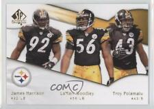 2009 SP Authentic #192 Troy Polamalu James Harrison LaMarr Woodley Football Card