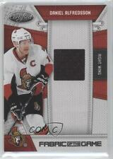 2010-11 Certified Fabric of the Game #DA Daniel Alfredsson Ottawa Senators Card