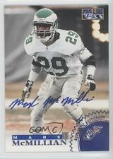 1996 Pro Line Autographs Blue #MAMC Mark McMillian Philadelphia Eagles Auto Card