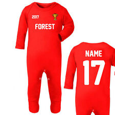 Nottingham Forest Personalised Baby Long-Sleeved Rompersuit Red