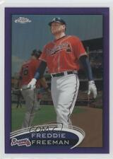 2012 Topps Chrome Retail Purple Refractor 19 Freddie Freeman Atlanta Braves Card