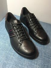 MSRP $295 New in Box Paul Smith Rabbit Black Mono Lux Leather Trainer Sneakers