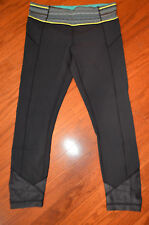 EUC Lululemon pace queen tight tights (running, yoga) sz 8 Inkwell Navy Blue