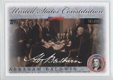 2006 Topps United States Constitution Signers #SC-AB Abraham Baldwin Card