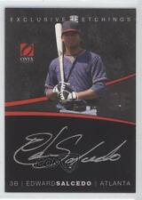 2012 Onyx Platinum Prospects Exclusive Etchings Gold Ink EE5 Edward Salcedo Auto