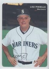 1995 Mother's Cookies Seattle Mariners Stadium Giveaway Base 1 Lou Piniella Card