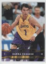 2004-05 Upper Deck Gold UD Exclusives #217 Sasha Vujacic Los Angeles Lakers Card
