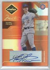 2005 Leaf Limited Monikers Bronze Autographed #14 Mark Prior Chicago Cubs Auto