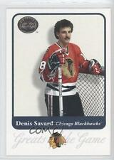 2001-02 Fleer Greats of the Game #22 Denis Savard Chicago Blackhawks Hockey Card