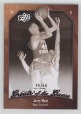 2009 Upper Deck Greats of the Game 50 #20 Jerry West Virginia Mountaineers Card